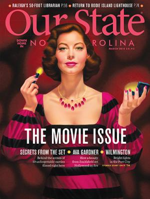 Ava Gardner appeared on the cover of Our State Magazine.