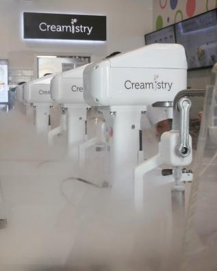 Ice cream machines at Creamistry Ice Cream