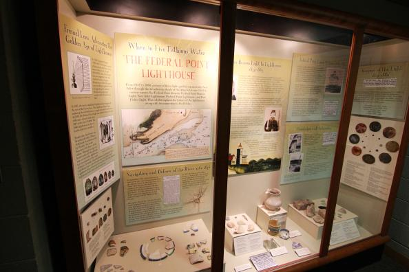 Federal Point Lighthouse Display Exhibit