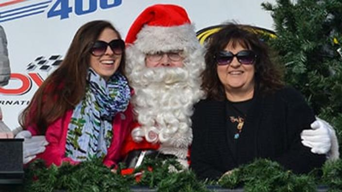 Santa in Victory Lane at Dover Int'l Speedway