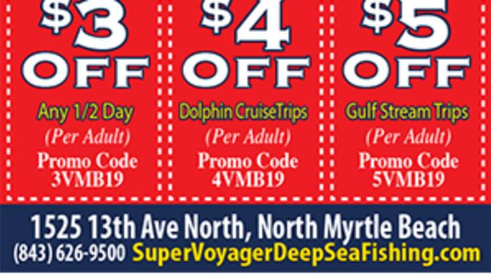 Voyager Deep Sea Fishing & Dolphin Cruises - $3 Off Any 1/2 Day