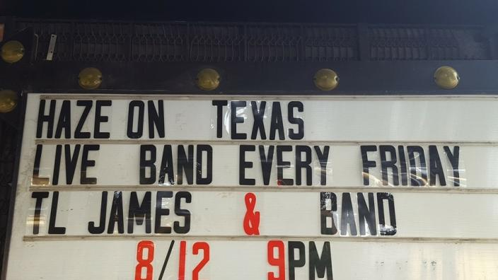 Live Band Every Friday at Haze on Texas