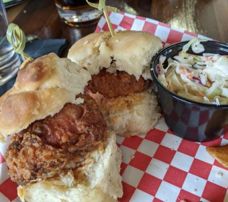 chicken biscuit sliders at libby's