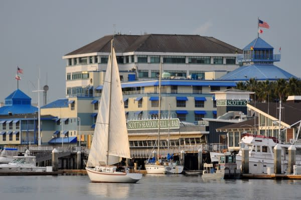 Sail Boats Over Jack London Square