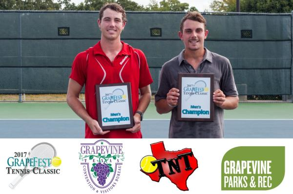 GrapeFest Tennis Winners Men