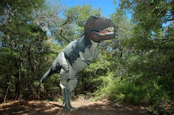 Dino Land Exhibit at Zilker Botanical Garden