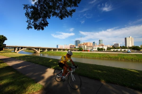 Biking the Trinity River Trails