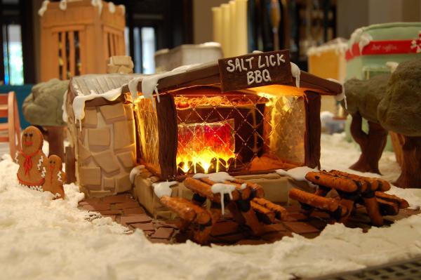 Salt Lick BBQ Gingerbread House