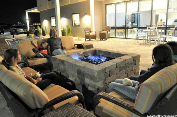 Home2 Suites Merrillville fire pit fun