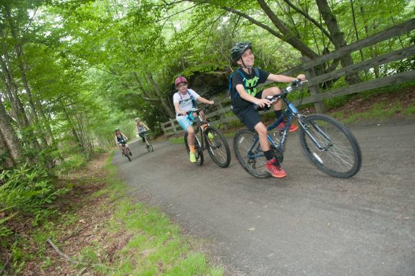 Biking on the Lackawanna River Heritage Trail