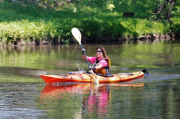 Kayaking on the Lackawanna River