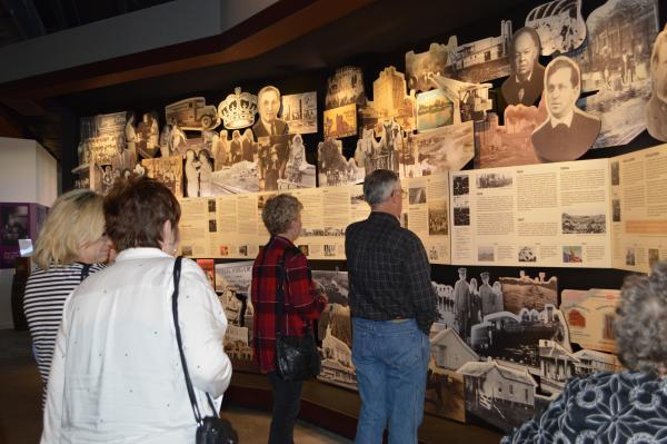 Guests viewing the Historical Timeline