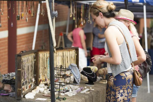 Augusta Market jewelry shopping