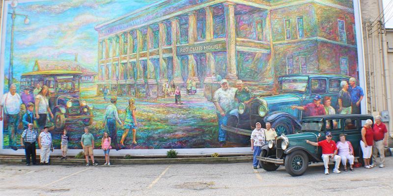 REO Motor Car Company Mural