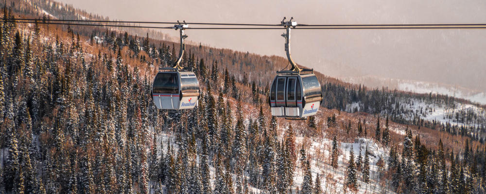 Steamboat Gondola Cars Winter