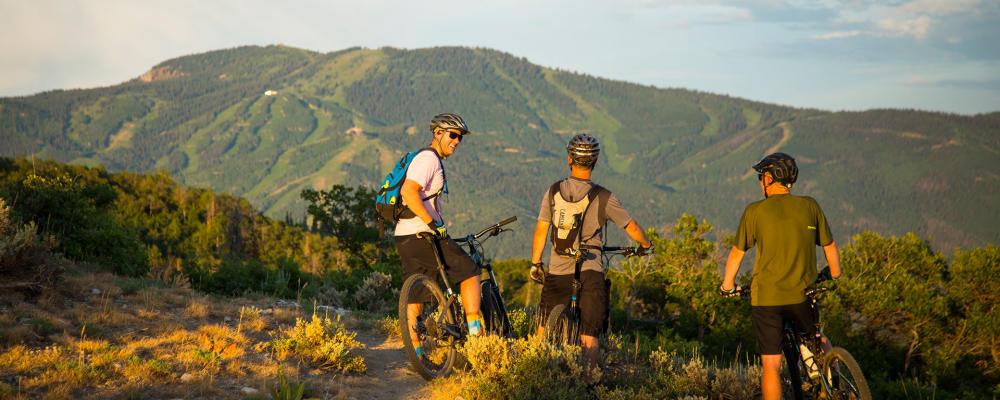 Sunset Steamboat Mountain Biking