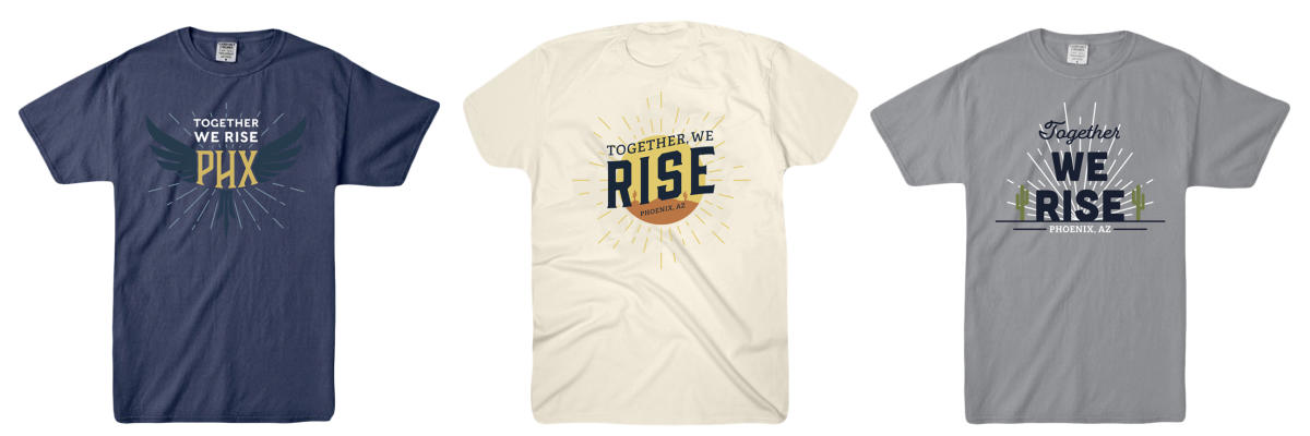 Together We Rise T-Shirts all