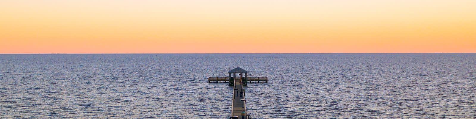 Coastal Mississippi Pier