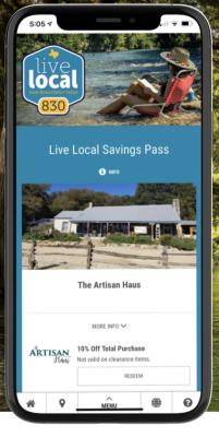 live local savings pass screenshot