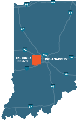 Hendricks County, Indiana Map