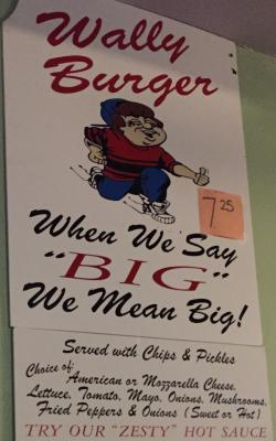 The sign hanging at Wally's Pub in Canandaigua