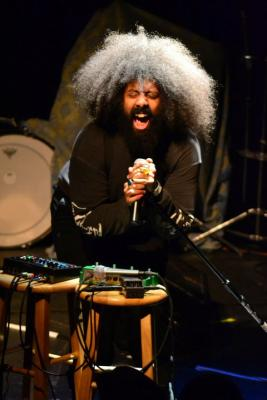 Reggie Watts performs at Fusebox Festival