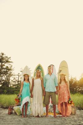 Boho Surfer Wedding Party