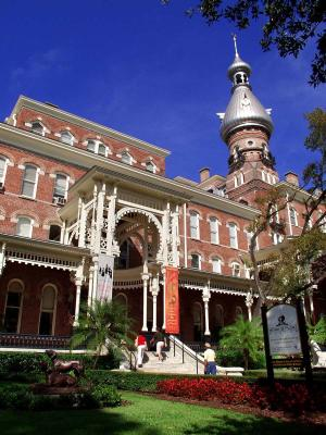 With its distinctive silver minarets, the former Tampa Bay Hotel (now part of the University of Tampa) is part of 19th Century railroad baron Henry B. Plant's legacy in Tampa Bay