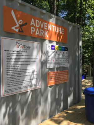 ZipZone Adventure Park Sign