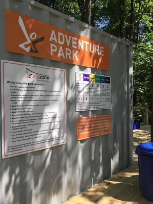 ZipZone Adventure Park Sign