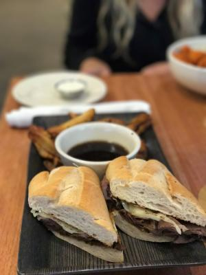 RAM Brewery French Dip Sandwich