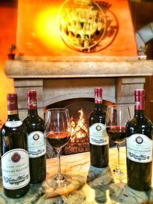 V. Sattui Fireside Wine tasting