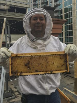 Beekeeper Ed Moore at The Brown Palace