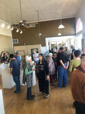 people at the deming art show