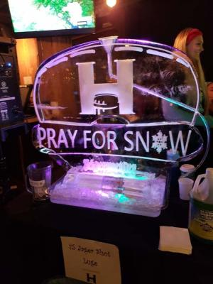 Harmon Pray for Snow ice sculpture