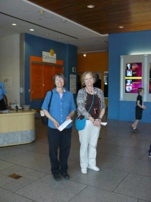 Janet and Carol pose in The California Museum.