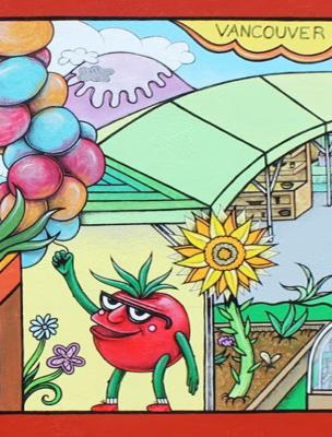 """Vancouver Farmers Market"" Mural"