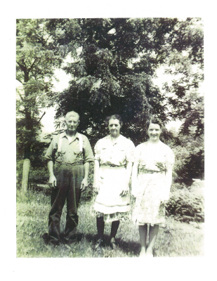 Helen Davis with Her Parents
