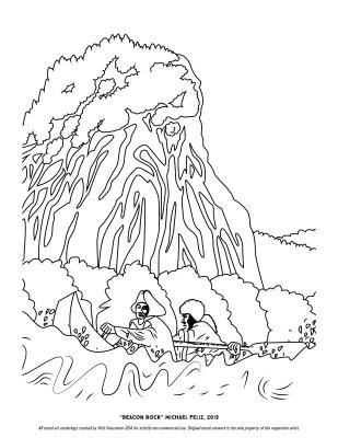 """""""Beacon Rock"""" Coloring Page"""