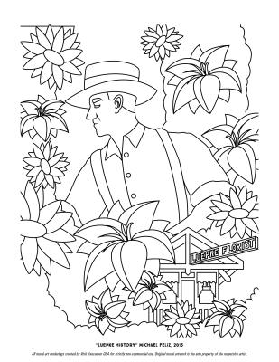 """Luepke History"" Coloring Page"