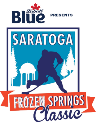 Labatt Blue presents Saratoga Frozen Springs Classic logo