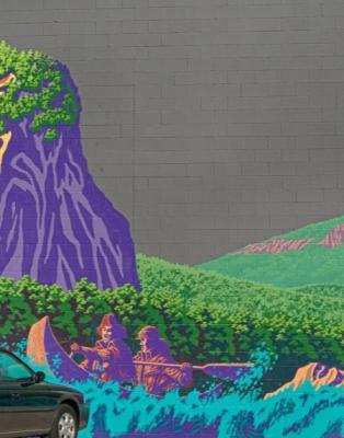 """""""Beacon Rock"""" Mural"""