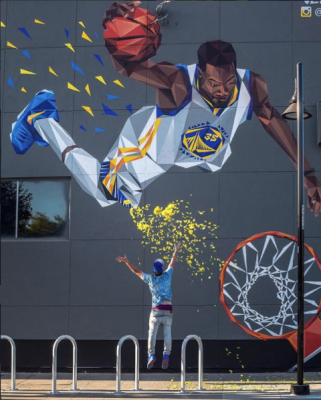 JC Ro - Kevin Durant Warriors Mural