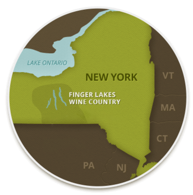 Finger Lakes Wine Country Map