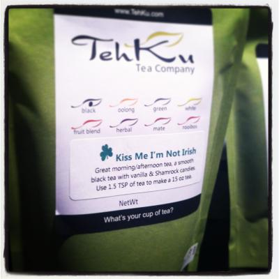 "Tehku Tea ""Kiss Me I'm Not Irish"""
