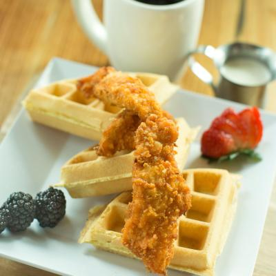Blue Mesa's chicken and waffles