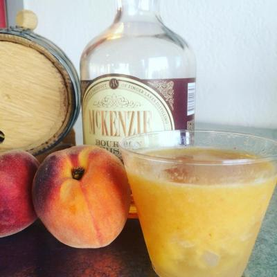 FLD Peach Bourbon Smash