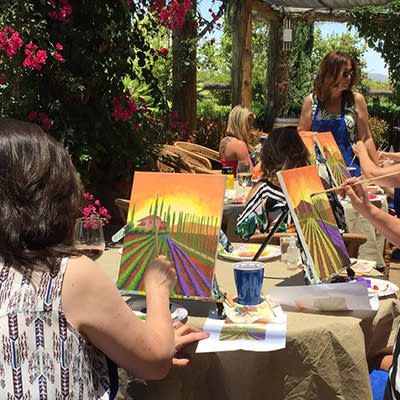 Wine Dine and Painting
