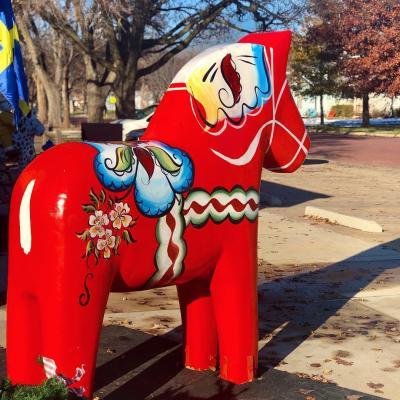 Dala Horse Sculpture - Rebekah Baughman Blog