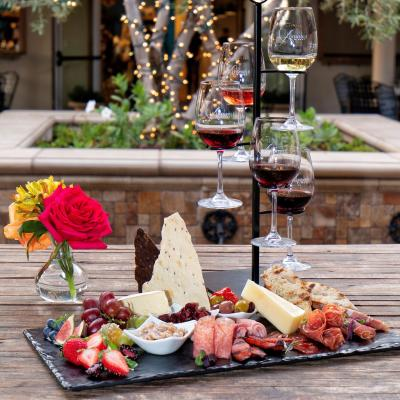 Charcuterie plate with wine flight